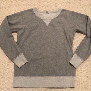 J. Crew Tops - Grey crew neck sweatshirt
